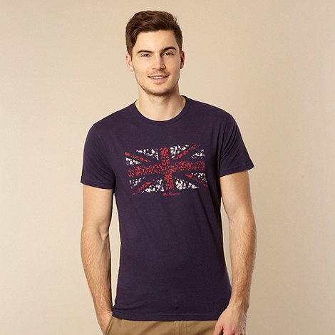 Ben Sherman - Blue Union Jack printed t-shirt