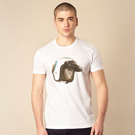 Ben Sherman - Big and tall white helmet print t-shirt