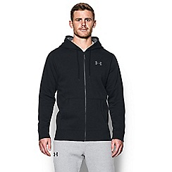 Under Armour - Black logo print hoodie