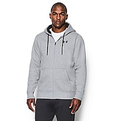 Under Armour - Grey logo print hoodie
