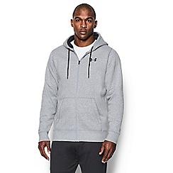 Under Armour - Grey logo print hoodie