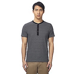 Ben Sherman - Black striped grandad top