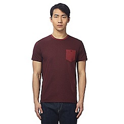 Ben Sherman - Dark red dogtooth print t-shirt