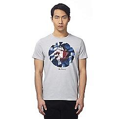 Ben Sherman - Grey broken target print t-shirt