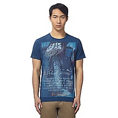 Ben Sherman - Big and tall blue motorbike print t-shirt