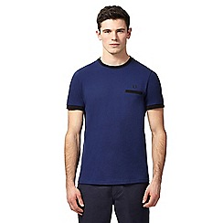 Fred Perry - Navy pique crew neck t-shirt