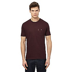 Ben Sherman - Big and tall dark red pocket t-shirt