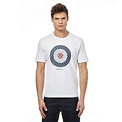 Ben Sherman - Big and tall white target print t-shirt