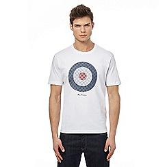 Ben Sherman - White target print t-shirt