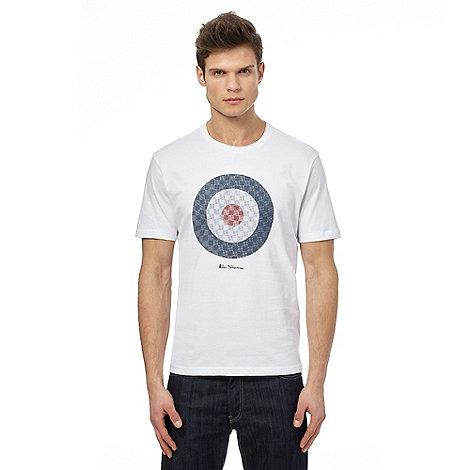 Ben sherman big and tall white target print t shirt for Big and tall printed t shirts