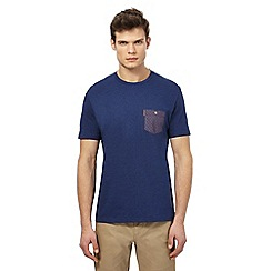 Ben Sherman - Big and tall blue checked chest pocket t-shirt