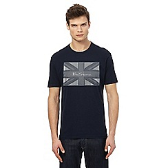 Ben Sherman - Big and tall navy union jack print t-shirt