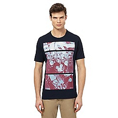 Ben Sherman - Big and tall navy printed t-shirt