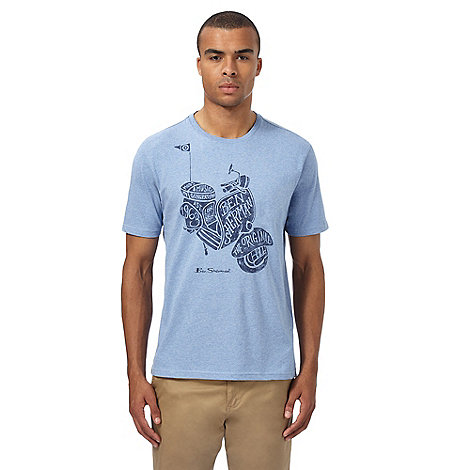 Ben sherman big and tall blue scooter graphic print t for Big and tall printed t shirts