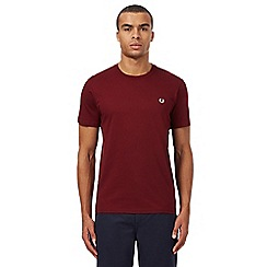 Fred Perry - Dark red crew neck t-shirt