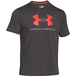 Under Armour - Dark grey logo print t-shirt