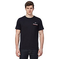 Fred Perry - Navy logo embroidered t-shirt