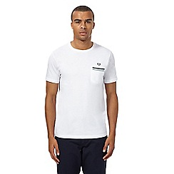Fred Perry - White contrast trim pocket t-shirt