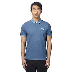 Ben Sherman - Big and tall blue tonic polo shirt