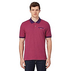 Ben Sherman - Big and tall pink tonic polo shirt