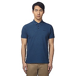 Ben Sherman - Navy textured polo shirt