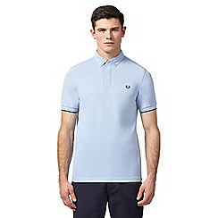 Fred Perry - Light blue textured polo shirt