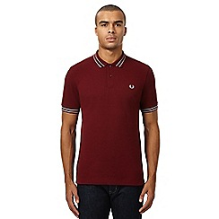 Fred Perry - Maroon twin tipped polo shirt