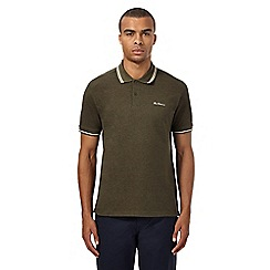 Ben Sherman - Khaki tipped polo shirt
