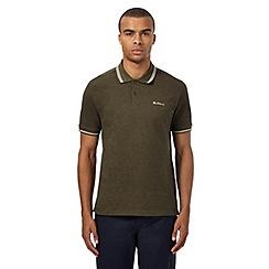 Ben Sherman - Big and tall khaki tipped polo shirt