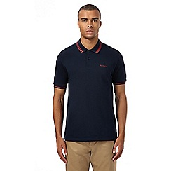 Ben Sherman - Big and tall navy tipped polo shirt
