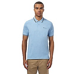 Ben Sherman - Big and tall light blue tipped polo shirt