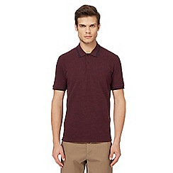 Ben Sherman - Big and tall dark red tipped polo shirt