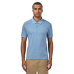 Ben Sherman - Big and tall blue textured polo shirt