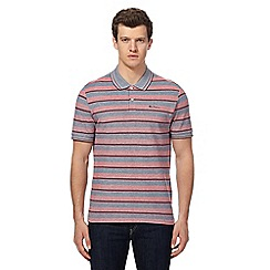 Ben Sherman - Big and tall red oxford tonic striped polo shirt