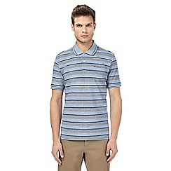Ben Sherman - Big and tall blue striped polo t-shirt