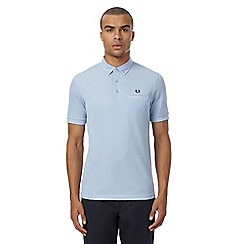Fred Perry - Blue Oxford trim woven collar polo shirt