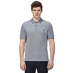 Fred Perry - Navy textured polo shirt