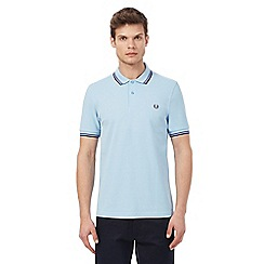 Fred Perry - Light blue tipped polo shirt