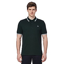 Fred Perry - Dark green embroidered logo polo shirt