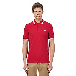Fred Perry - Dark pink tipped polo shirt