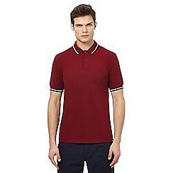 Fred Perry - Dark red twin tipped polo shirt