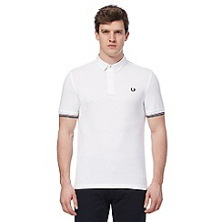 Fred Perry - White embroidered logo polo shirt