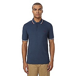Fred Perry - Blue textured polo shirt