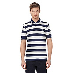 Fred Perry - Navy and white striped polo shirt