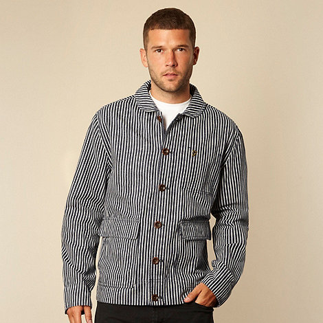 Farah 1920 - Navy textured striped jacket