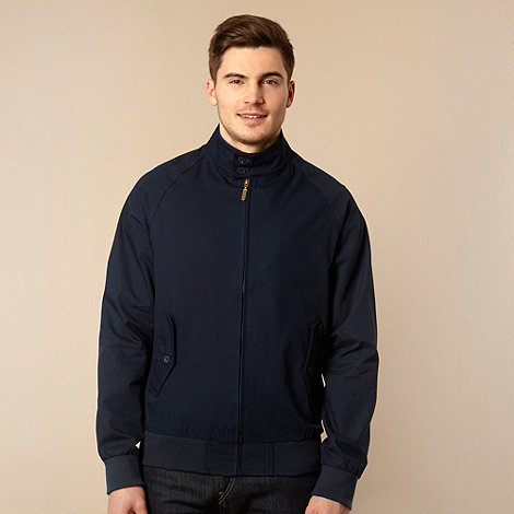 Ben Sherman - Big and tall navy lightweight  funnel necked jacket