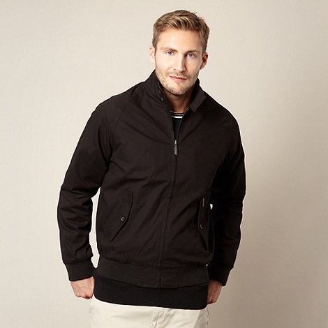 Ben Sherman - Big and tall black harrington jacket