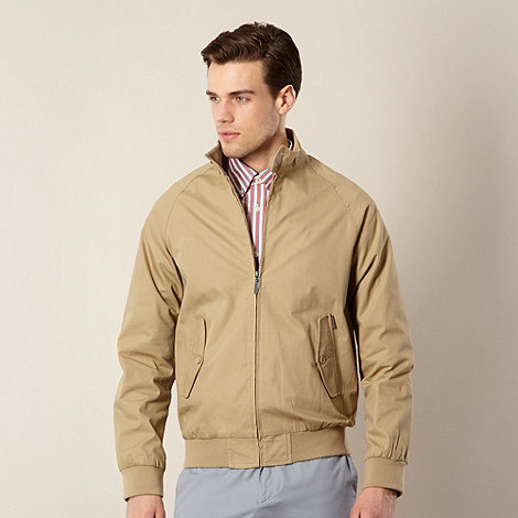 Ben Sherman - Big and tall tan funnel neck harrington jacket