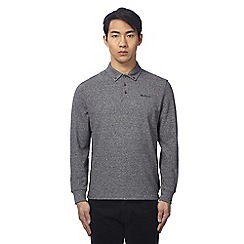 Ben Sherman - Grey textured polo shirt