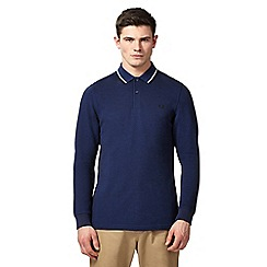 Fred Perry - Navy long sleeve polo shirt